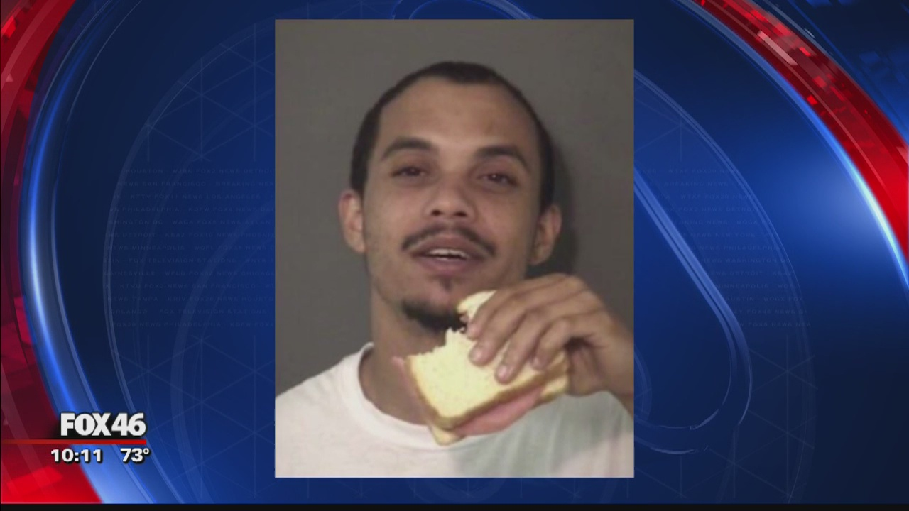Union County inmate snacks on sandwich in mugshot - Story | WAGA